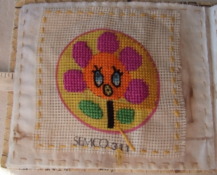 <p>Learning embroidery - obviously I didn't finish it though.  I do remember choosing this at Streaters.</p>