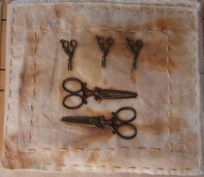 <p>Tools of the trade.  Stork embroidery scissors and Shears.</p>
