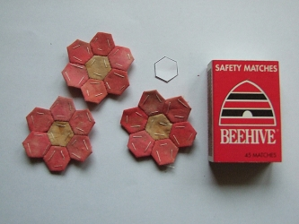 <p>Yes they really are tiny hexagons.  But they did inspire the black piece I am working on.</p>